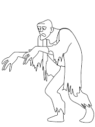 Free Zombie Coloring Pages