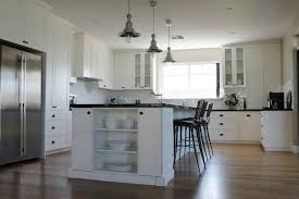 Kitchen With Shaker Style Cabinets Pendant Lights From Ikea