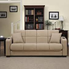 handy living tyler microfiber storage arm convert a couch and sofa