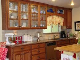 classic kitchen with wooden cherry replacing cabinet