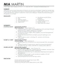 Executive Assistant Resume With Professional Profile Administrative Summary Examples