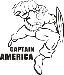 Printable Captain America Coloring Pages For Kids