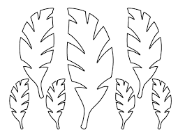 Palm Leaf Pattern Use The Printable Outline For Crafts Creating Stencils Scrapbooking