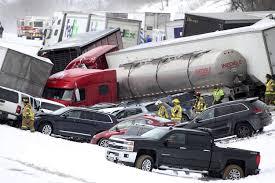 100 Trucks And Cars Multiple Fatalities Reported In 50car Pennsylvania Pileup