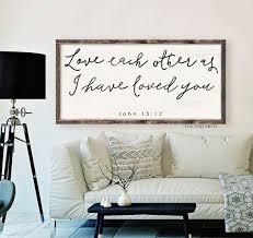 John 1512 Scripture Sign Bible Verse Wooden By ToeFishArt