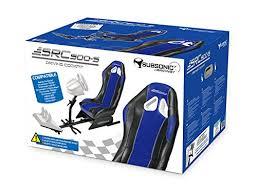 siege volant pc subsonic siège baquet avec support pour volant et pédalier