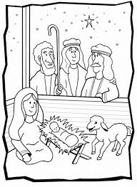 Shepherds Visit Baby Jesus Color Sheet