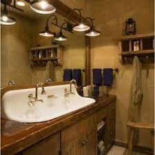 Rustic Cabin Bathroom Lights by Home Decor Fetching Rustic Vanity Lights To Complete Millennium