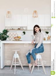 Girl Standing Near The Kitchen Table In A High Chair. Bright ... Safety First Timba Highchair White High Chairs Strolleria Ikea Chair With Standing Laptop Station Fniture Little Girl Standing Image Photo Free Trial Bigstock Handsome Artist Eyeglasses Gallery Amazoncom Floorstanding High Bracket Bar Lift Modern Girl Naked On A Chair Stand In The Bathroom Tower Or Learning Made Splendid Office Desks Amusing Solar Cantilever Leander Free Worth Vitra Rookie