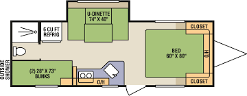 Travel Trailer Floor Plans With Bunk Beds by Livin Lite Camplite Travel Trailer Pathway Auto And Rv Dealer