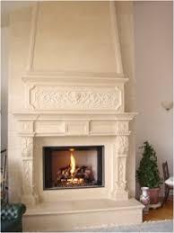 limestone fireplace Mantel  Cast limestone fireplace mantel in