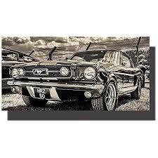 ford mustang gt 350 rot wandbild canvas oldtimer