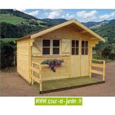 abri chalet brantôme bois ép 28mm avec plancher cour et jardin