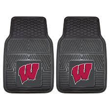 University Of Wisconsin Heavy Duty Vinyl Car Floor Mats (Set Of 2 ...