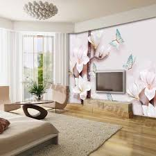 elegante 3d tapeten für wohnzimmer wasserdichte tv hintergrund foto tapeten moderne umweltfreundlich blumen tapeten