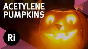 Calcium Carbide Lamp Fuel by Exploding Acetylene Pumpkins Halloween Science Youtube