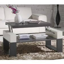 table basse relevable table bois cendré