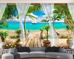 großhandel tapety 3d moderne fototapete 3d 3d stereoskopische balkon meerblick 3d wallpaper wohnzimmer tapeten wohnkultur yeyueman 10 12 auf