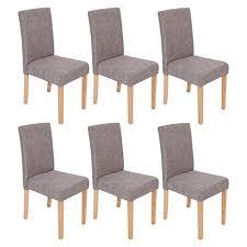 6x design stühle textil dunkelgrau stuhl hochlehner stoff