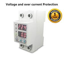 100 Auto Re Quick Sense Matic Single Phase Voltage Protector Adjustable Setting Protection With Connect LED Display Standard DinRail Mounted 220V