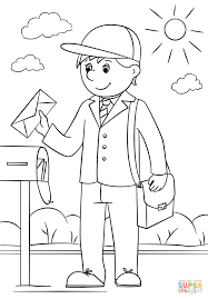 Coloring Download Mail Carrier Page Free Printable Pages Sheets