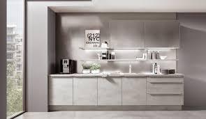 moderne einbauküche norina 2371 beton grau nachbildung