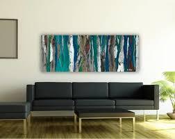 Dark Teal Living Room Decor by Contemporary Modern Artwork In Living Room Dining Room Entry Blue