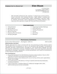 Resume Examples Executive Assistant Cover Letter Sample Of Administrative Summary