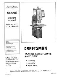 Sears Canada Tile Saw by Craftsman 113 244401 Owner S Manual