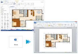 create floor plan for word