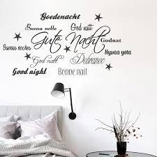 wandtattoo spruch gute nacht sprachen