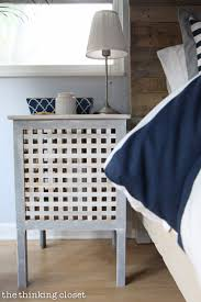 IKEA Hacked Hol Side Tables Part Of A Rustic Nautical Master Bedroom Makeover Via Thinkingcloset