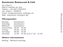ᐅ öffnungszeiten esszimmer restaurant café am hügel 2