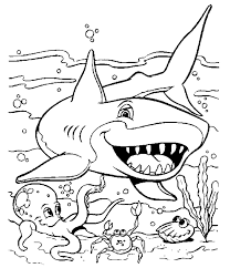 A Cute Picture Of Shark Yay Perfect Colouring Page To Match The