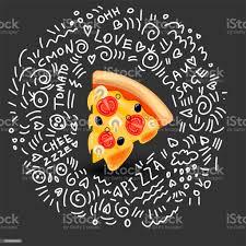 vektorsymbol pizza margarita klassische italienische küche heiße scheibe pizza margarita mit geschmolzenem käse tomaten chignons und oliven