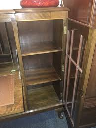 Drop Front Writing Desk by Superb Vintage Lockable Art Deco Walnut Burr Bookcase With Drop