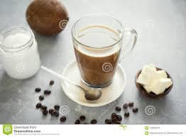 Download Bulletproof Coffee Stock Image Of