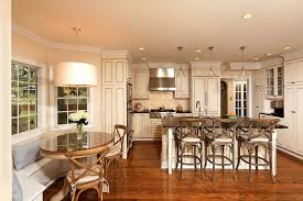 breakfast table light kitchen traditional with breakfast bar