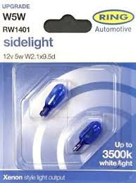 rw1401 ring w5w 5w xenon style 3500k sidelight bulbs 12v 5w w2 1x9
