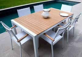table jardin bois metal salon de jardin metal pliant trendsetter