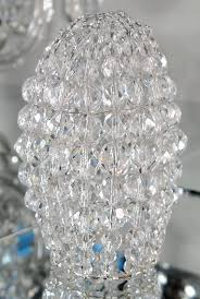 small faceted glass beaded light bulb cover chandelier shade