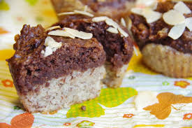 eine kohlenhydrateinheit muffins zweifarbige muffins mit banane