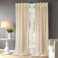 ivory and cream curtains drapes you ll love wayfair