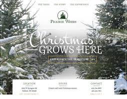 Christmas Tree Farm Lincoln Nebraska by Prairie Woods Skwintz Design Portfolio