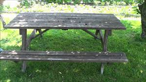 turning an old picnic table into a workbench easy diy project