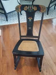 Antique Pennsylvania Dutch Rocking Chair With Cane Seat ...