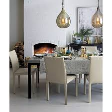 Crate And Barrel Castillo Floor Lamp by Parsons Concrete Top 72x42 Dining Table With Natural Dark Steel