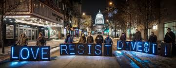Global Divestment Day in Madison Love Resist Divest… Party