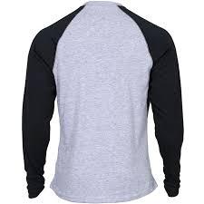 rocky men u0027s logo long sleeve gray and black raglan t shirt