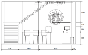 Orthographic Layout Of Pop Up Store